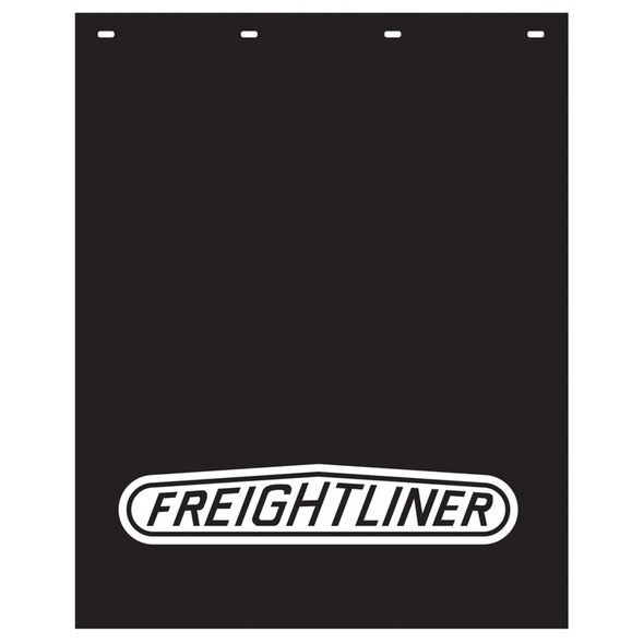 "Polyguard Mud Flap Freightliner Logo 24"" x 30"" (Black w/ White)"