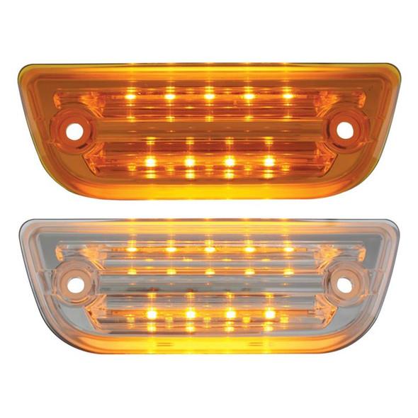 Peterbilt 579 & Kenworth T680 T770 T880 LED Rectangular Cab Light Amber Lens Clear Lens