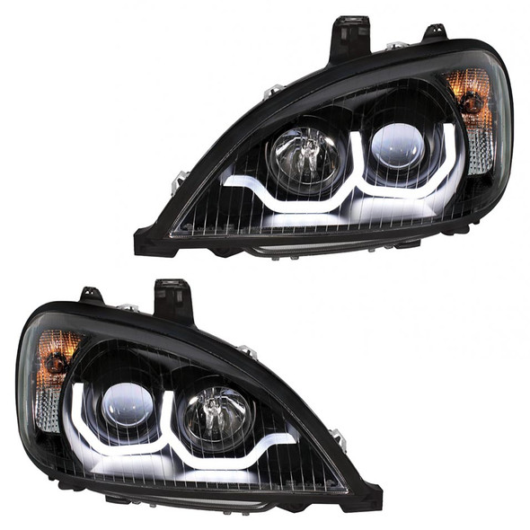 """""""Blackout"""" Freightliner Columbia Projection Headlight - Both"""