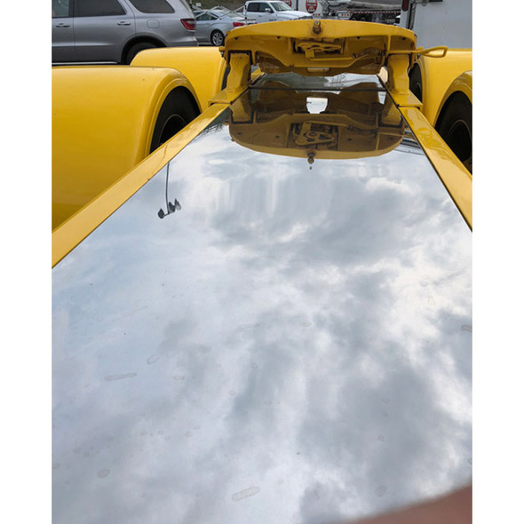 Custom In Frame Aluminum Deck Plate - On Truck Yellow Truck