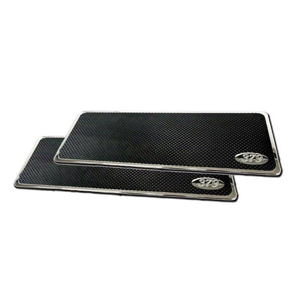 """379"" engraved Peterbilt Lifetime Step Plates 16"""