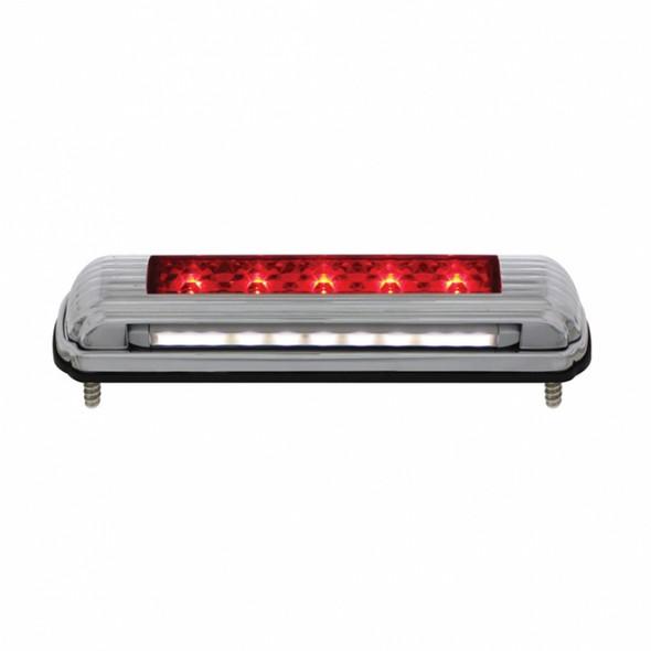 Chrome Flush Mount LED License Plate Light Red