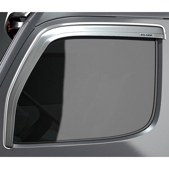 Mack CH Series Granite Vision Chrome Ventvisor Rain Guard