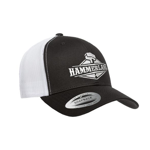 Snapback Black & White Hammer Lane Hat Angled