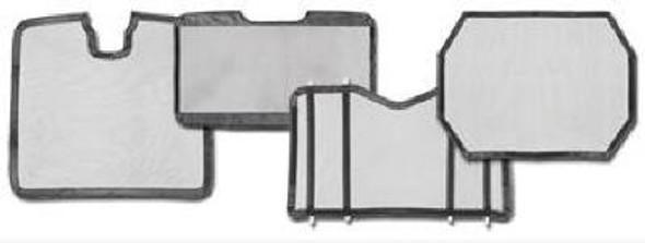 Peterbilt 579 Bug Screen Aluminum With Black Mesh