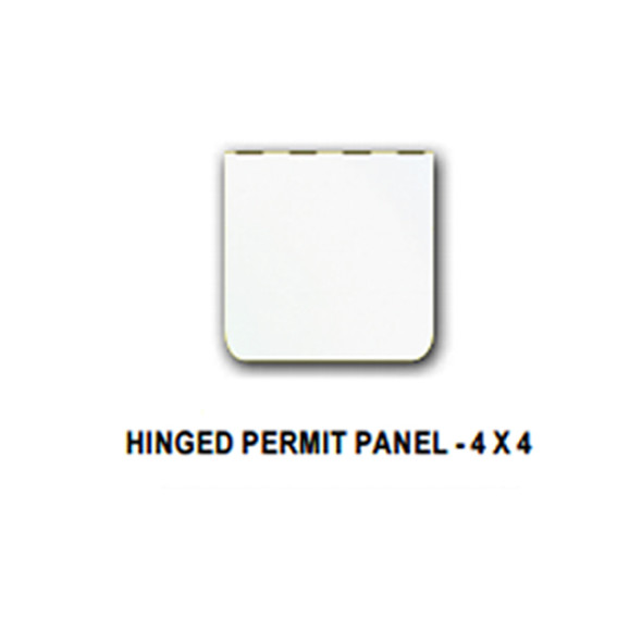 Universal Hinged Permit Panel Polished Stainless Steel By Valley Chrome