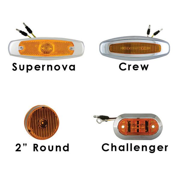 Mack Granite GU713 Cab Panels with Side Light Holes, Heater Plug, 12 Round Amber Flat LEDs -1