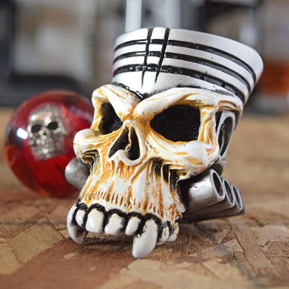 Piston Skull Shifter Knob Side