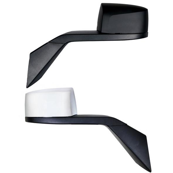 Volvo VNL Chrome Hood Mirror Assembly Chrome And Black Both Side