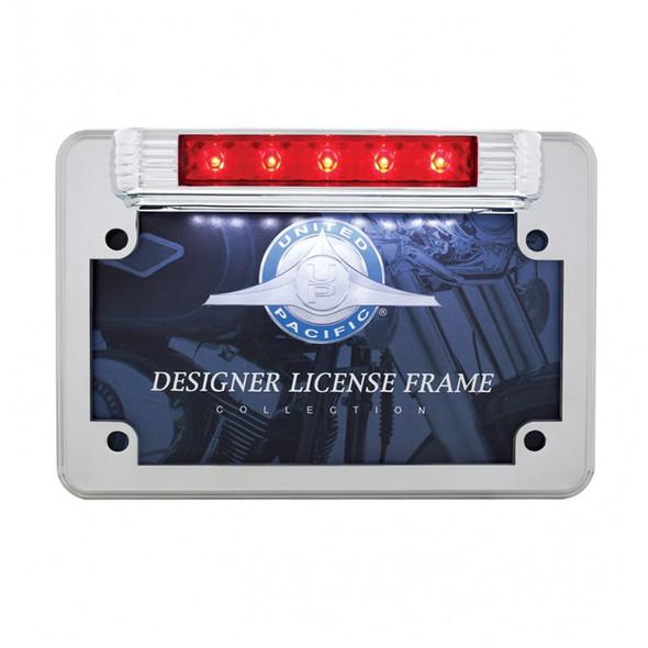 Motorcycle LED License Plate Frame - 3rd Brake Light