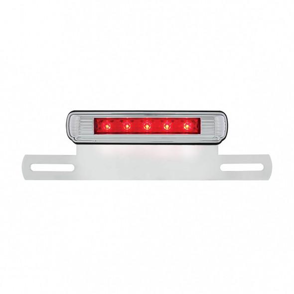 Motorcycle LED License Plate Bracket - Red 3rd Brake LED