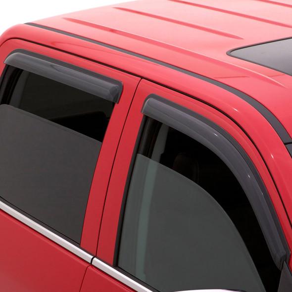 Dodge Ram 1500 2500 3500 Mega Cab AVS Smoke Ventvisor 4 Piece On Truck
