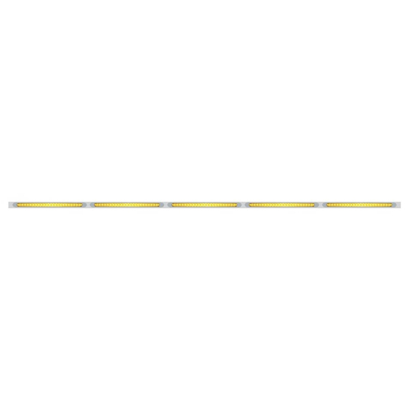 "94"" LED Light Bar With Stainless Steel Bracket Amber Lens Amber LED With Bezel"
