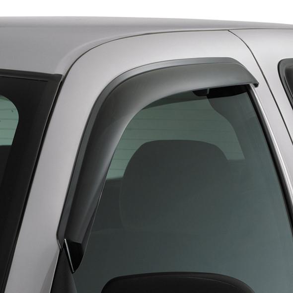 Dodge Ram 1500 2500 3500 Standard Cab AVS Smoke Ventvisor 2 Piece On Truck