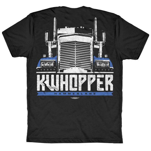 KWhopper Hammer Lane Trucker T-Shirt Back