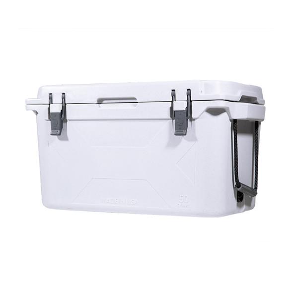 Bison 50 Quart Hard Cooler - White