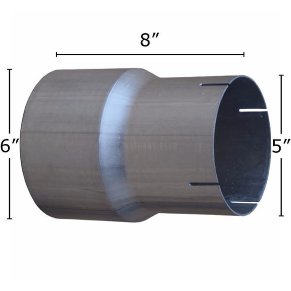 Aluminized exhaust reducer measurement diagram