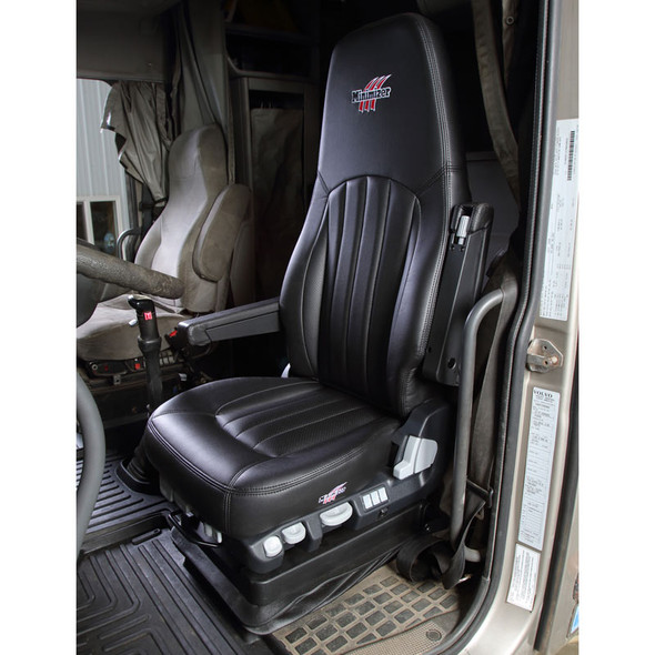 Minimizer Air Ride Truck Seat Long Haul Series Ultra Leather In Truck