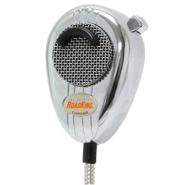 RoadKing 4-Pin Dynamic Noise Cancelling Chrome CB Microphone