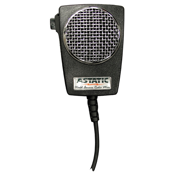 Astatic D104M6B Amplified Ceramic Power 4-Pin Power CB Microphone