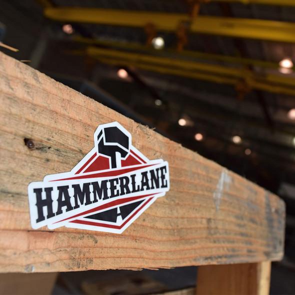 """Hammerlane 4"""" Sticker On Pallet"""