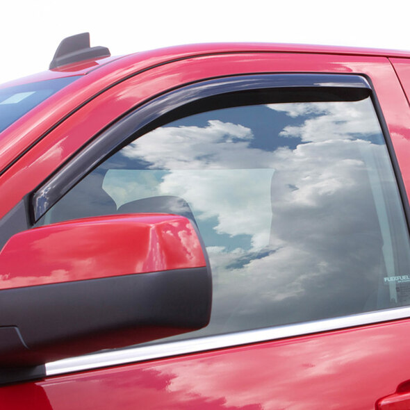 Toyota Tacoma Standard Cab AVS Smoke In-Channel Ventvisor 2 Piece On Truck