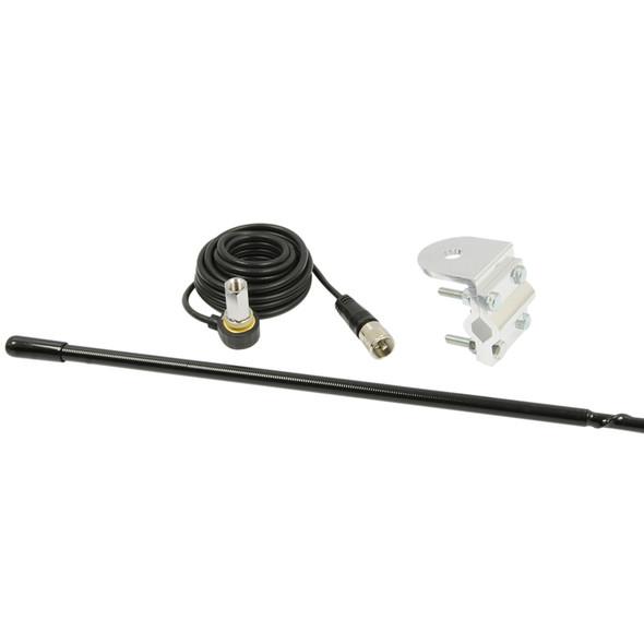 RoadPro 3' Platinum Series Single Mirror Mount CB Antenna Kit
