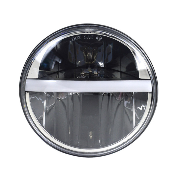 """7"""" Round LED Headlight With Center DRL And Turn Signal"""