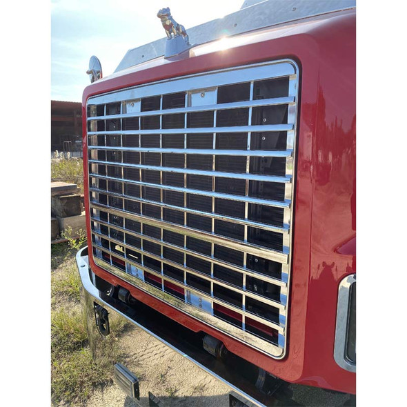 Mack CH600 Aluminum Grille Replacement - Side View