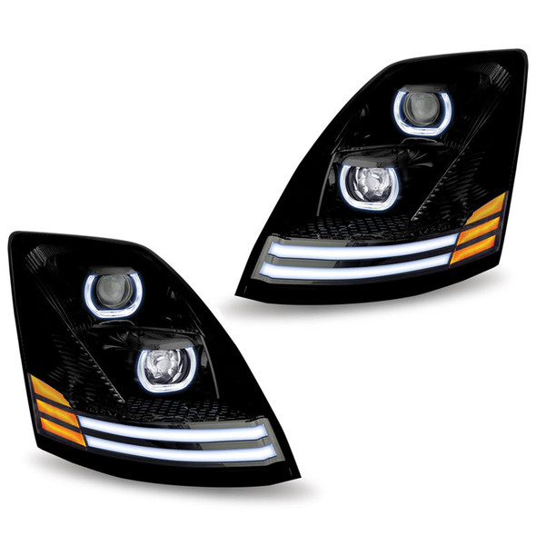 Volvo VNL Blackout LED Projector LED Headlight - Set