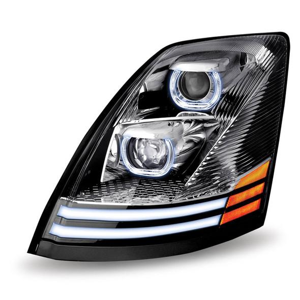 Volvo VNL Chrome Projector LED Headlight - Running Light