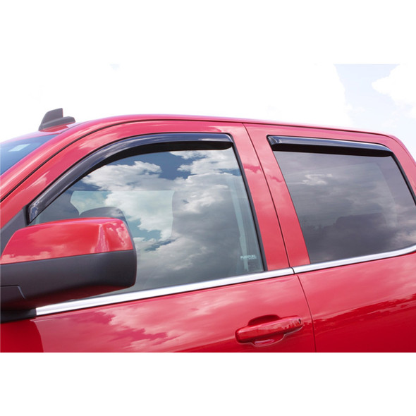 Dodge Ram 1500 2500 3500 Crew Cab Mega Cab AVS Smoke In-Channel Ventvisor 4 Piece On Truck