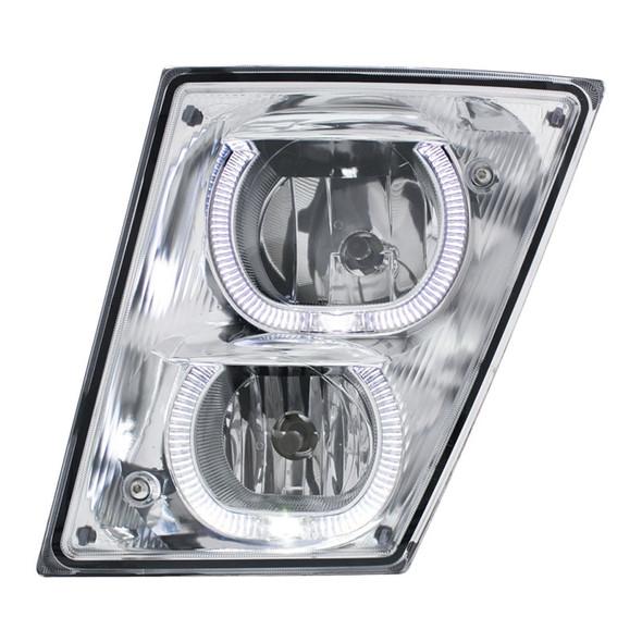 Volvo VNL 2003+ Fog Light With White LED Light Bar - Driver
