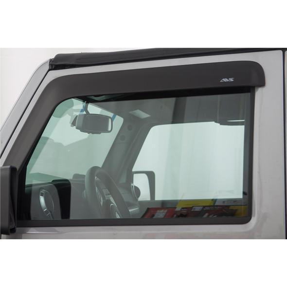 Jeep Wrangler Unlimited AVS Smoke Low-Profile Ventvisor 2 Piece On Truck
