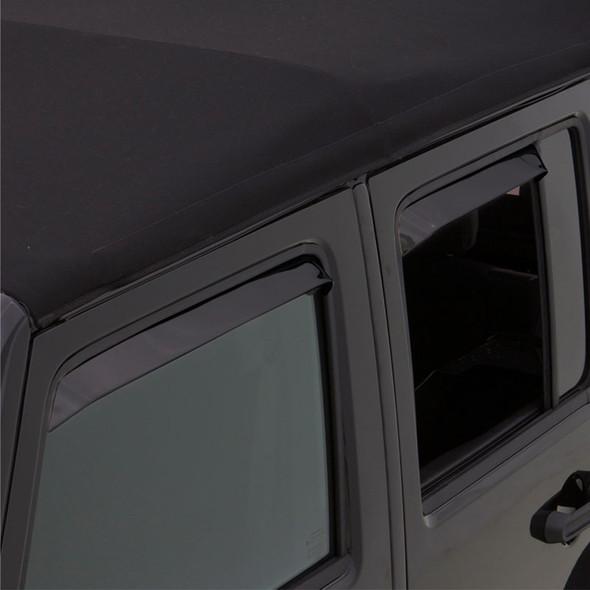 Dodge Dakota Quad Cab AVS Black Ventshade 4 Piece