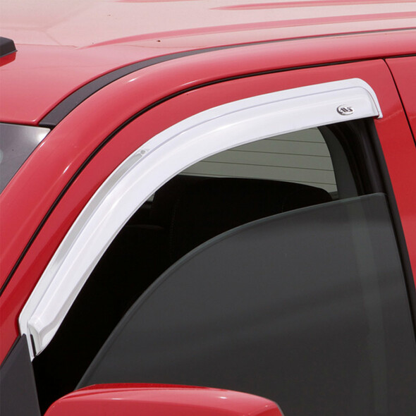Ford F-150 Standard Cab AVS Chrome Ventvisor 2 Piece On Truck