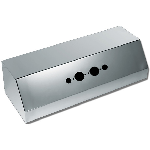 Stainless Steel Universal Trailer Airline Box By Valley Chrome - 2 Plug