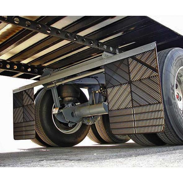 Aeroflap Aerodynamic Straight Mud Flap - On Truck