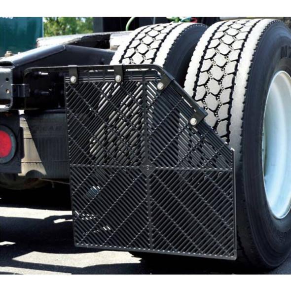 Aeroflap Aerodynamic Shortie Style Mud Flap - On Truck