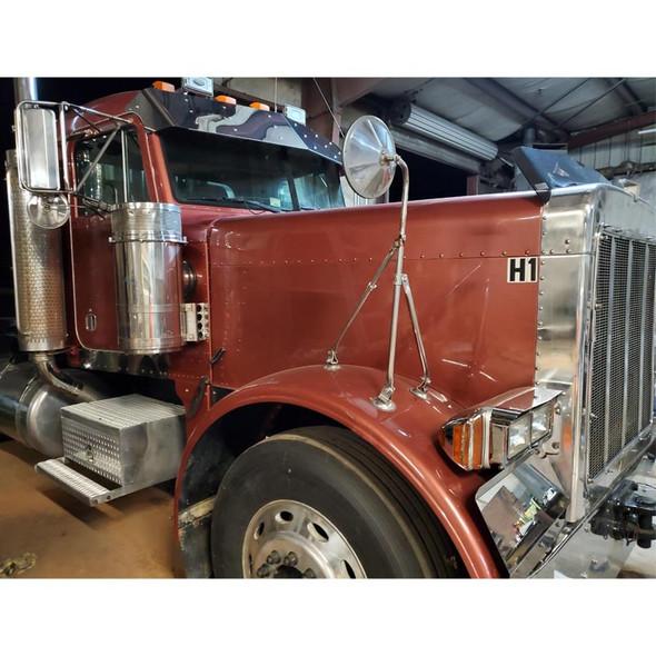 "Peterbilt Flat Top 13.5"" Drop Visor 1988-2005 On Truck"