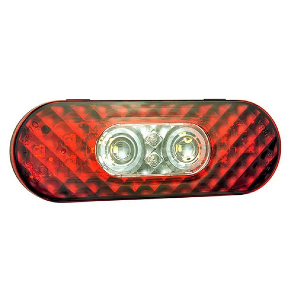 """6"""" Oval LED STT with Integrated Reverse Function- Front"""