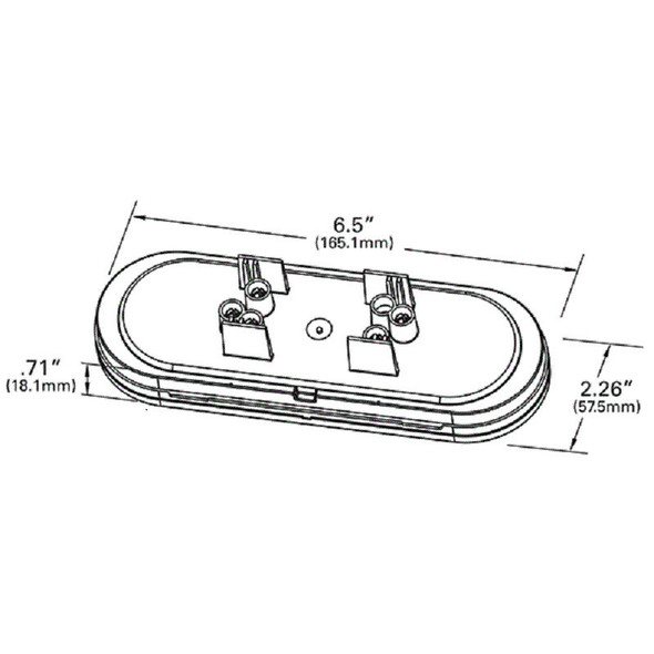 """6"""" Oval LED STT with Integrated Reverse Function- Diagram"""