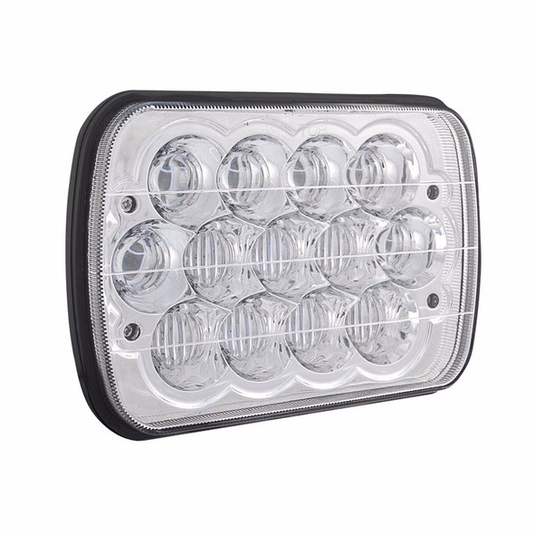 """5"""" x 7"""" LED Projector Headlight - Angled View"""