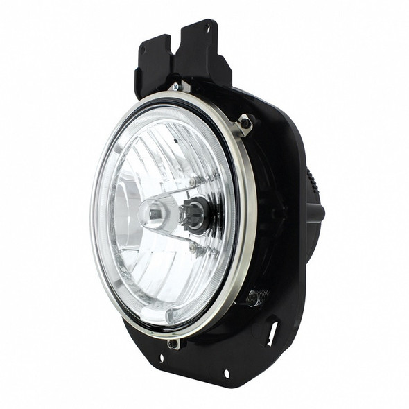 Freightliner Century Headlight with Amber LED Halo Angle View