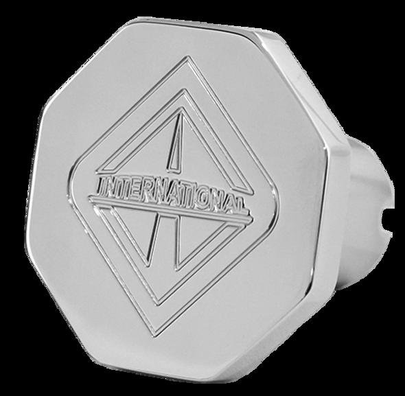 Engraved International Logo Tractor Trailer Air Brake Knob - Octagonal