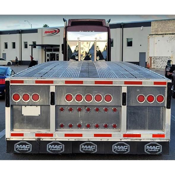 Enclosed 4 Door Aluminum Fleet Rack By Brunner Fabrication - Back View Raneys's