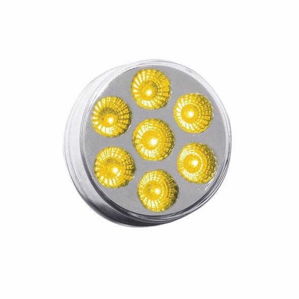 "2"" Round Dual Revolution Amber LED Marker Light"