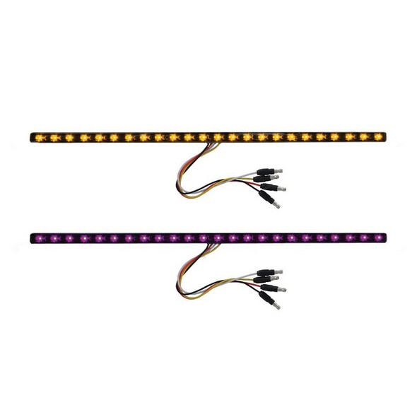 "17"" Dual Revolution Light Strip Amber & Purple LED Marker Light"