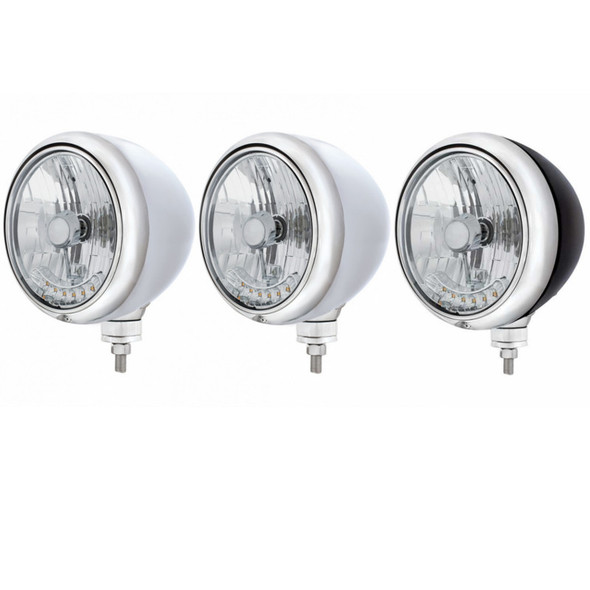 """7"""" Guide Headlight with 6 Amber Auxiliary LED"""