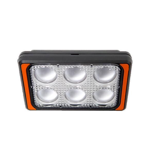 High Power 6 LED Work Light Top View
